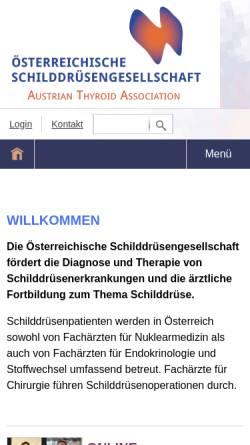 Vorschau der mobilen Webseite www.schilddruesengesellschaft.at, Österreichische Schilddrüsengesellschaft