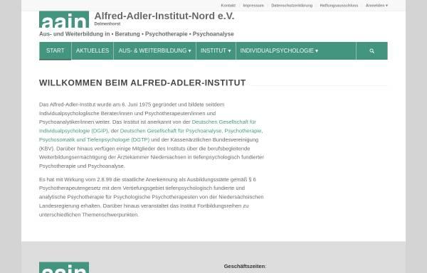 Vorschau von www.aain-delmenhorst.de, Alfred-Adler-Institut-Nord e.V.