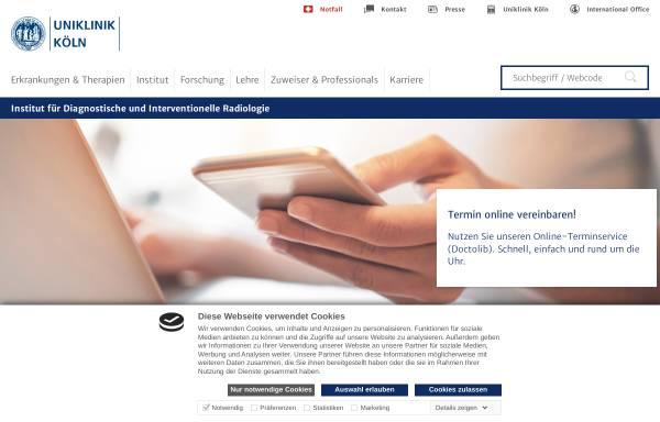 Vorschau von radiologie.uk-koeln.de, Köln - Institut für Diagnostische und Interventionelle Radiologie der Universität