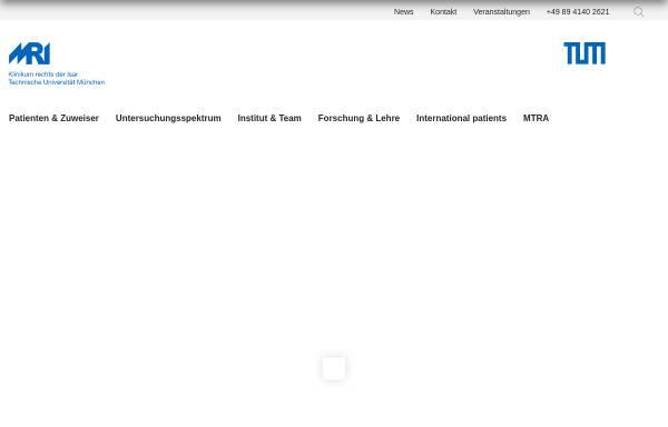 Vorschau von www.rad.mri.tum.de, München - Institut für Diagnostische und Interventionelle Radiologie der TU