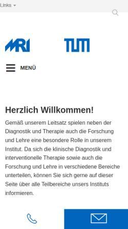 Vorschau der mobilen Webseite www.rad.mri.tum.de, München - Institut für Diagnostische und Interventionelle Radiologie der TU