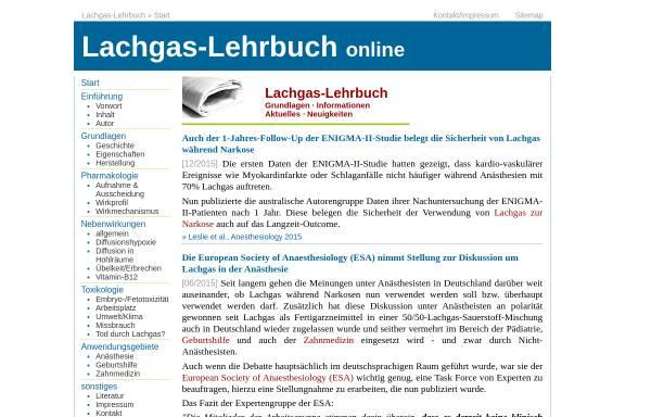 Vorschau von www.lachgas-lehrbuch.de, Lachgas-Lehrbuch online