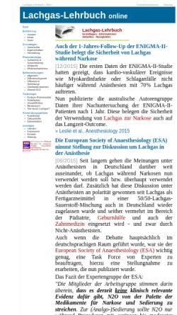 Vorschau der mobilen Webseite www.lachgas-lehrbuch.de, Lachgas-Lehrbuch online