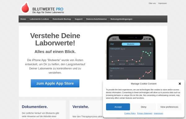 Vorschau von laborwerte-app.de, Conzappt GbR