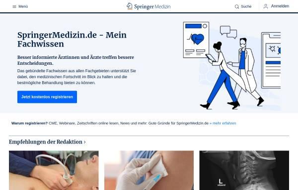Vorschau von www.springermedizin.de, Springer Medizin - Das Fachportal für Ärzte