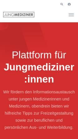 Vorschau der mobilen Webseite www.jungmediziner.net, Jungmediziner