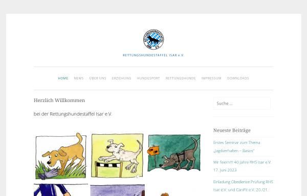 Vorschau von www.rhs-isar.de, Rettungshundestaffel Isar e.V.