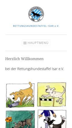 Vorschau der mobilen Webseite www.rhs-isar.de, Rettungshundestaffel Isar e.V.