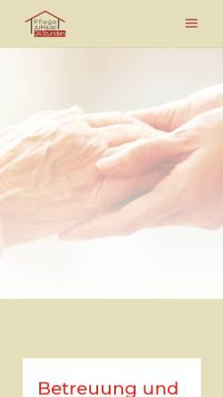 Vorschau der mobilen Webseite www.pflegezuhause24stunden.de, Pflege zu Hause 24 Stunden, Tiberius Sztolar