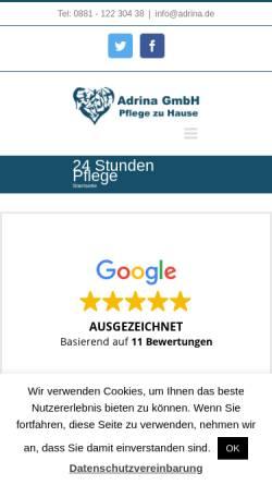 Vorschau der mobilen Webseite www.seniorenbetreuung-oberbayern.de, Seniorenbetreuung Oberbayern