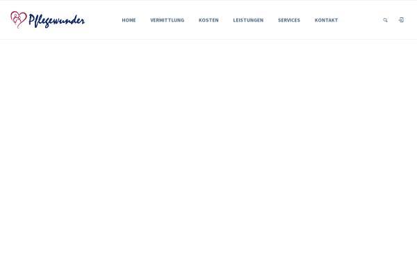 Vorschau von www.pflegewunder.de, Pflegewunder GmbH i.G.