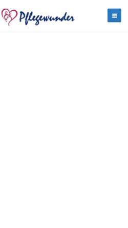 Vorschau der mobilen Webseite www.pflegewunder.de, Pflegewunder GmbH i.G.