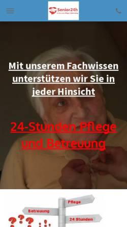 Vorschau der mobilen Webseite www.senior24h.de, Senior24.de