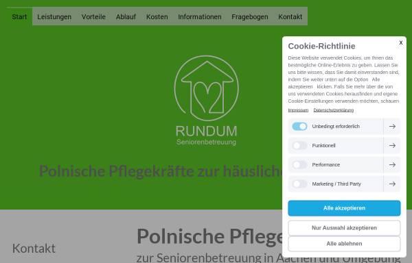 Vorschau von www.rundum-seniorenbetreuung.de, Rundum Seniorenbetreuung