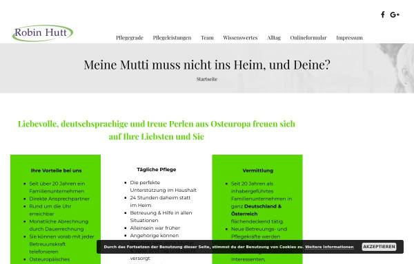 Vorschau von www.robin-hutt.de, Robin Hutt - 24 Stunden Pflege
