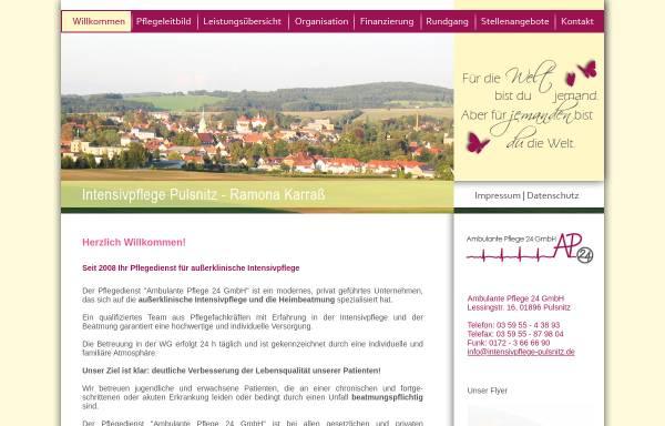 Vorschau von intensivpflege-pulsnitz.de, Ambulante Pflege 24 - Ramona Karraß