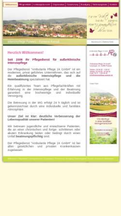 Vorschau der mobilen Webseite intensivpflege-pulsnitz.de, Ambulante Pflege 24 - Ramona Karraß