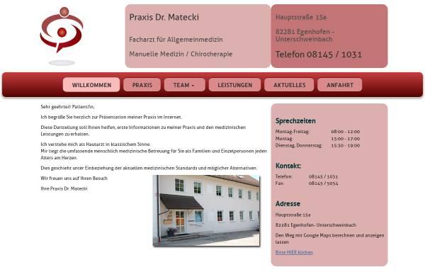Vorschau von www.praxis-dr-matecki.de, Matecki, Dr. med. Klaus