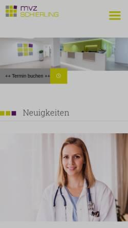 Vorschau der mobilen Webseite www.mvz-schierling.de, MVZ Schierling