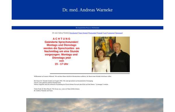 Vorschau von www.doktor-warneke.de, Warneke, Dr. med. Andreas Wolfenbüttel, Danziger Str. 17