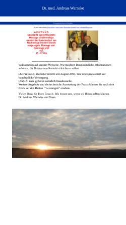 Vorschau der mobilen Webseite www.doktor-warneke.de, Warneke, Dr. med. Andreas Wolfenbüttel, Danziger Str. 17