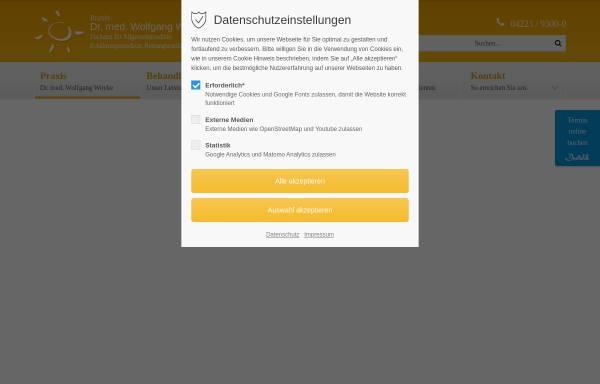 Vorschau von www.arzt-ganderkesee.de, Praxis Dr. med. Wolfgang Woyke