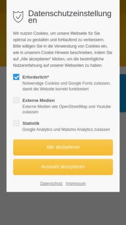 Vorschau der mobilen Webseite www.arzt-ganderkesee.de, Praxis Dr. med. Wolfgang Woyke
