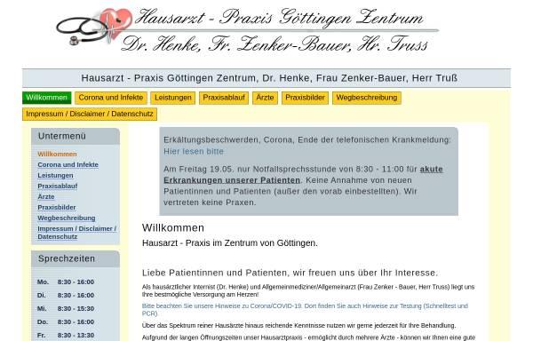Vorschau von www.praxis-goettingen-zentrum.de, Hausarzt - Praxis Göttingen Zentrum
