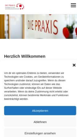 Vorschau der mobilen Webseite diepraxis-harz.de, Die Praxis