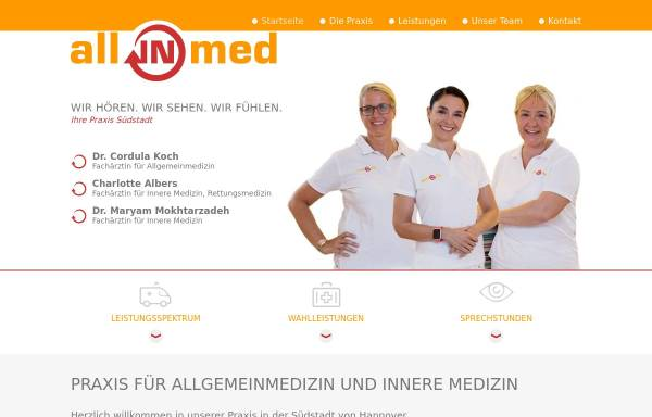 Vorschau von www.allinmed.de, Koch, Dr. med. Cordula, Charlotte Albers und. Dr. Maryam Mokhtarzadeh