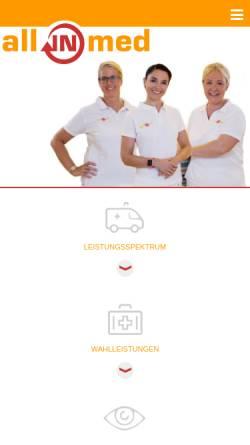 Vorschau der mobilen Webseite www.allinmed.de, Koch, Dr. med. Cordula, Charlotte Albers und. Dr. Maryam Mokhtarzadeh