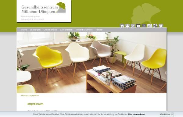 Vorschau von www.gesundheitszentrum-muelheim.de, Gesundheitszentrum Mülheim-Dümpten
