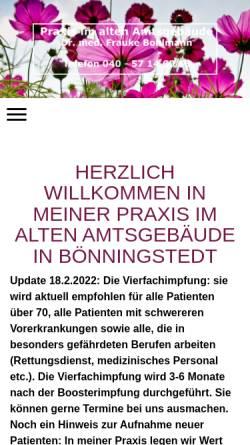 Vorschau der mobilen Webseite praxis-im-alten-amtsgebaeude.de, Praxis im alten Amtsgebäude, Dr. Frauke Bohlmann