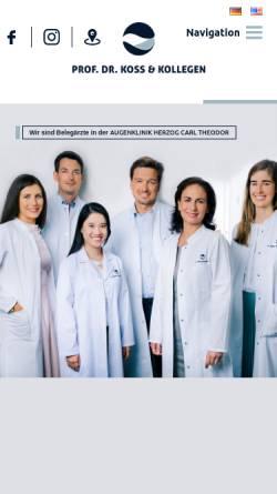 Vorschau der mobilen Webseite www.augenarzt-muc.de, Heidenkummer, Prof. Dr. Peter und Neubauer, Prof. Dr. Lorenz