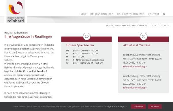 Vorschau von www.augenaerzte-reinhard.de, Praxisgemeinschaft Augenärzte Reinhard
