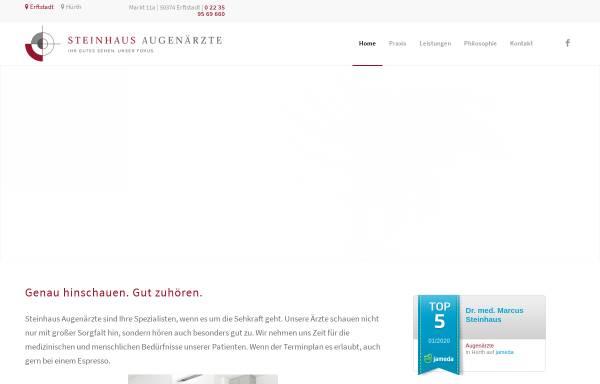 Vorschau von www.praxisdrsteinhaus.de, Steinhaus, Dr. med. Markus