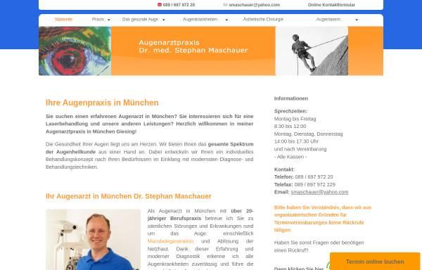 Vorschau von www.augenpraxis.com, Maschauer, Dr. med. Stephan