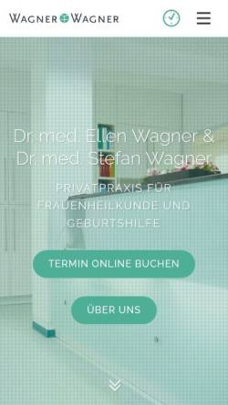 Vorschau der mobilen Webseite www.wagnerundwagner.de, Frauenärzte Wagner und Wagner