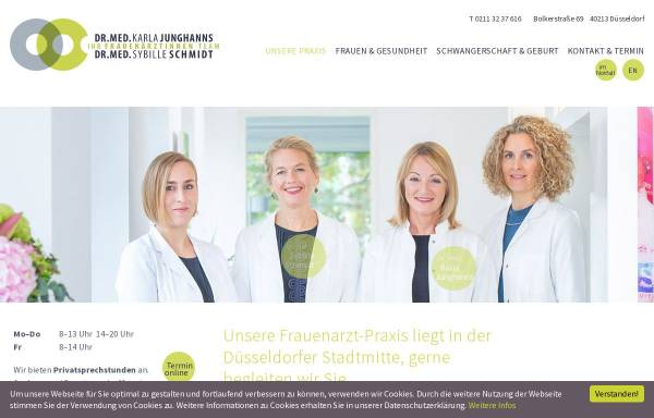 Vorschau von www.frauenarztpraxis-duesseldorf.de, Junghanns, Dr. med Karla
