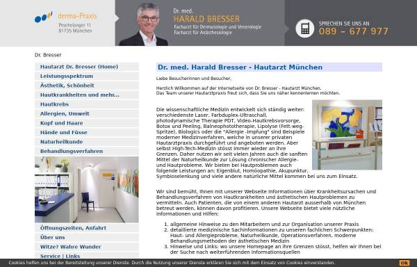 Vorschau von www.drbresser.de, Bresser, Dr. med. Harald
