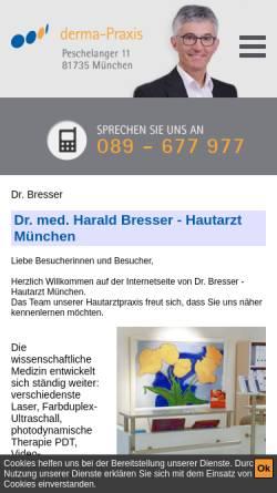 Vorschau der mobilen Webseite www.drbresser.de, Bresser, Dr. med. Harald