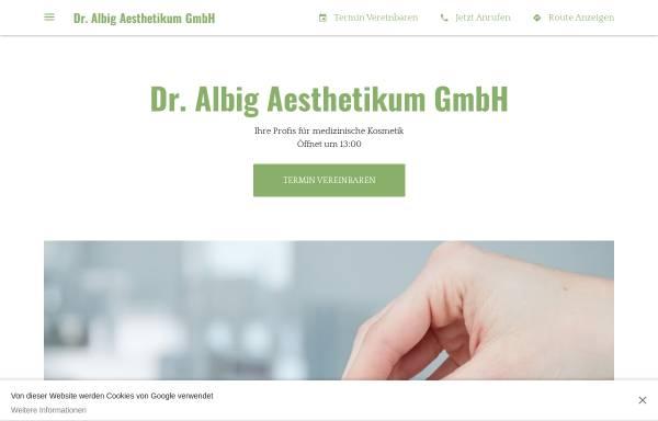 Vorschau von www.aesthetikum-singen.de, Dr. Albig Aesthetikum GmbH