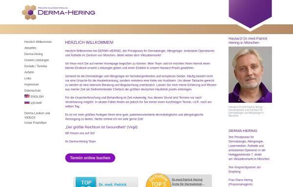 Vorschau von www.derma-hering.de, Private Hautarztpraxis Derma-Hering