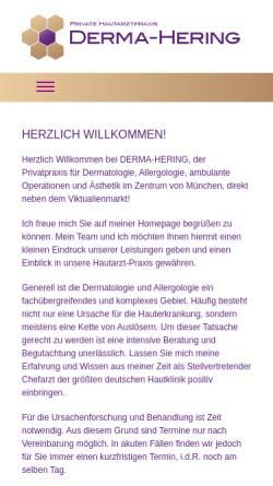 Vorschau der mobilen Webseite www.derma-hering.de, Private Hautarztpraxis Derma-Hering