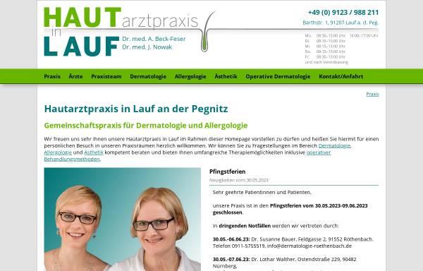 Vorschau von www.hautarzt-in-lauf.de, Hautarztpraxis in Lauf GbR