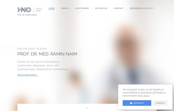 Vorschau von hno-zentrum-bonn.de, Naim, Prof. Dr. Ramin