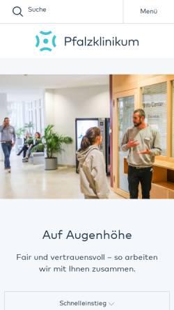 Vorschau der mobilen Webseite www.pfalzklinikum.de, Medizinisches Versorgungszentrum Pfalzklinikum GmbH