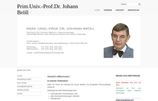 Vorschau von www.prof-broell.at, Prim. Univ.-Prof. Dr. Johann Bröll