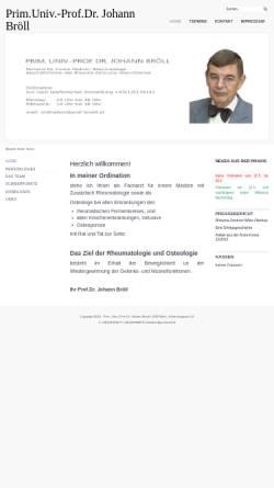 Vorschau der mobilen Webseite www.prof-broell.at, Prim. Univ.-Prof. Dr. Johann Bröll