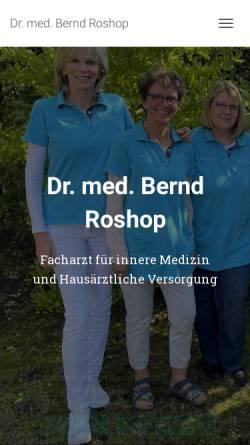 Vorschau der mobilen Webseite dr-roshop.de, Roshop, Dr. Bernd